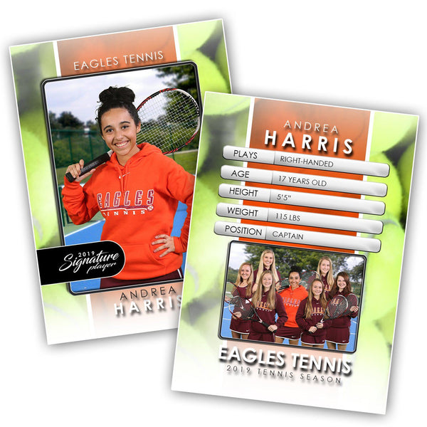 Signature Player - Tennis - V1 - T&I Drop-In Collection-Photoshop Template - Photo Solutions