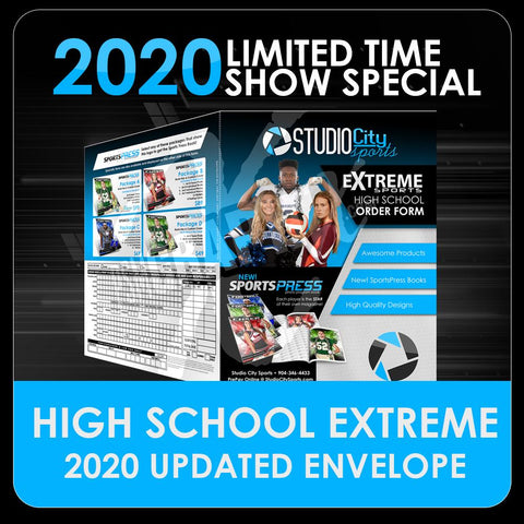 "2020 Special - Extreme High School Sports 11""x17"" Envelope Template-Photoshop Template - PSMGraphix"