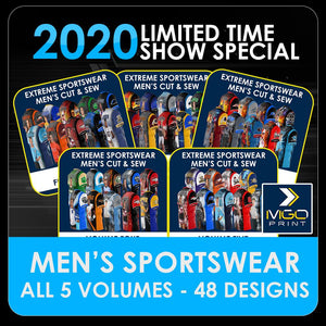 2020 Special - ENTIRE SET Men's Cut & Sew Shirt Template Collection-Photoshop Template - PSMGraphix