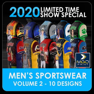 2020 Special - V.2 Men's Cut & Sew Shirt Template Collection-Photoshop Template - PSMGraphix