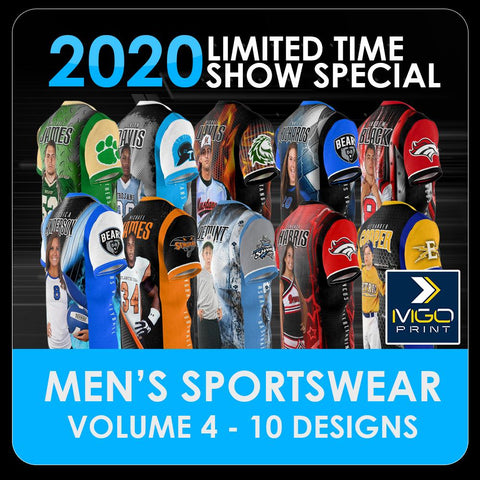 2020 Special - V.4 Men's Cut & Sew Shirt Template Collection-Photoshop Template - PSMGraphix