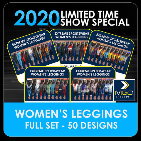 2020 Special - ENTIRE SET Women's Cut & Sew Leggings Template Collection-Photoshop Template - PSMGraphix