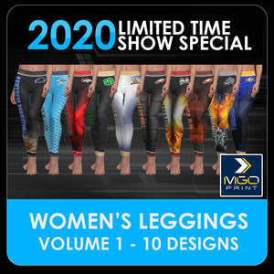 2020 Special - V.1 Women's Cut & Sew Leggings Template Collection-Photoshop Template - PSMGraphix
