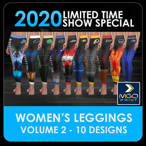 2020 Special - V.2 Women's Cut & Sew Leggings Template Collection-Photoshop Template - PSMGraphix