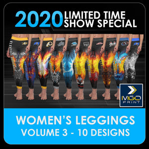 2020 Special - V.3 Women's Cut & Sew Leggings Template Collection-Photoshop Template - PSMGraphix