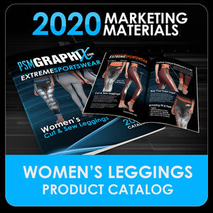 2020 - Women's Cut & Sew Legging Design Catalog-Photoshop Template - PSMGraphix