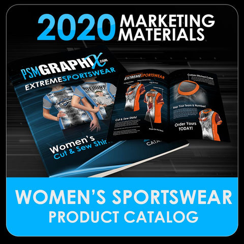 2020 - Women's Cut & Sew Product Catalog-Photoshop Template - PSMGraphix