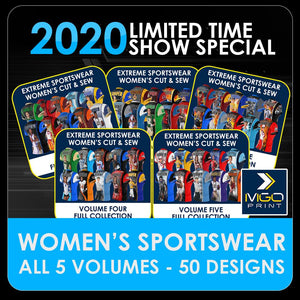 2020 Special - ENTIRE SET Women's Cut & Sew Shirt Template Collection-Photoshop Template - PSMGraphix