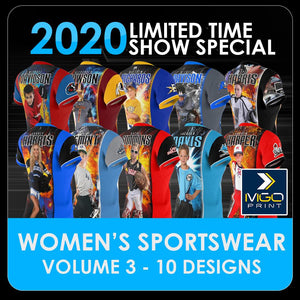2020 Special - V.3 Women's Cut & Sew Shirt Template Collection-Photoshop Template - PSMGraphix