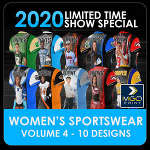 2020 Special - V.4 Women's Cut & Sew Shirt Template Collection-Photoshop Template - PSMGraphix