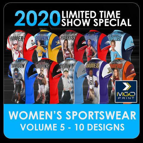 2020 Special - V.5 Women's Cut & Sew Shirt Template Collection-Photoshop Template - PSMGraphix