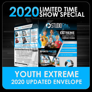 "2020 Special - Extreme Youth Sports 11""x17"" Envelope Template-Photoshop Template - PSMGraphix"