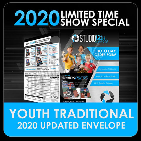 "2020 Special - Traditional Youth Sports 11""x17"" Envelope Template-Photoshop Template - PSMGraphix"
