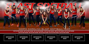 Diamond v.2 - Team Field Banner Photoshop Template -  PSMGraphix