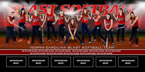Diamond v.2 - Team Field Banner Downloadable Template Photo Solutions PSMGraphix