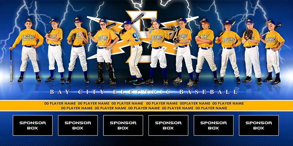 Electric v.2 - Team Field Banner-Photoshop Template - Photo Solutions