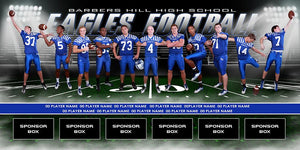 Friday Lights v.2 - Team Field Banner-Photoshop Template - Photo Solutions