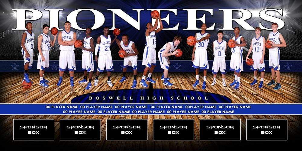 Full Court v.2 - Team Field Banner-Photoshop Template - Photo Solutions
