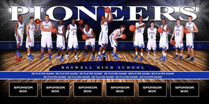 Full Court v.2 - Team Field Banner Downloadable Template Photo Solutions PSMGraphix