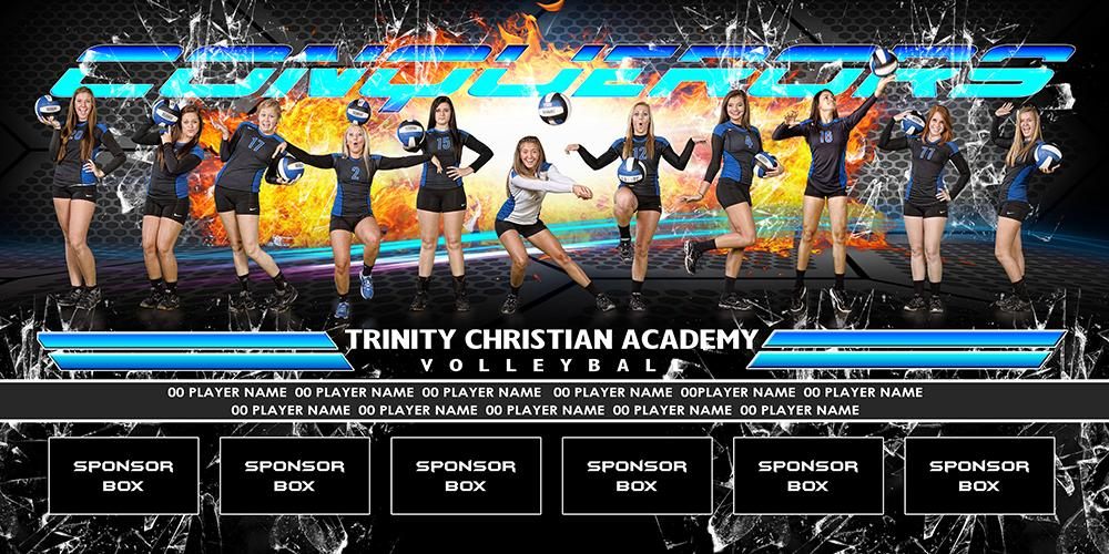 Grid Fire v.3 - Team Field Banner-Photoshop Template - Photo Solutions