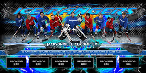 Ice v.3 - Team Field Banner-Photoshop Template - Photo Solutions