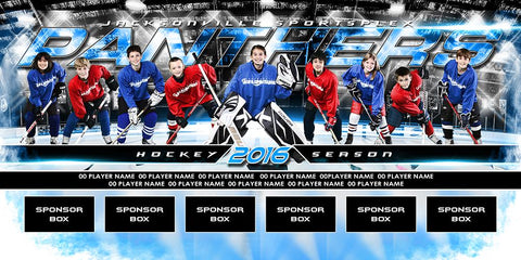 Ice Hockey v.6 - MVP Series - Team Field Banner-Photoshop Template - Photo Solutions