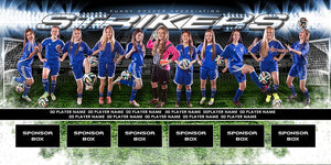 Soccer v.6 - MVP Series - Team Field Banner Downloadable Template Photo Solutions PSMGraphix