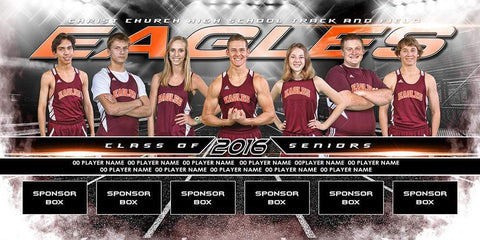 Track & Field v.6 - MVP Series - Team Field Banner Downloadable Template Photo Solutions PSMGraphix
