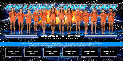 Swim v.3 - Team Field Banner-Photoshop Template - Photo Solutions