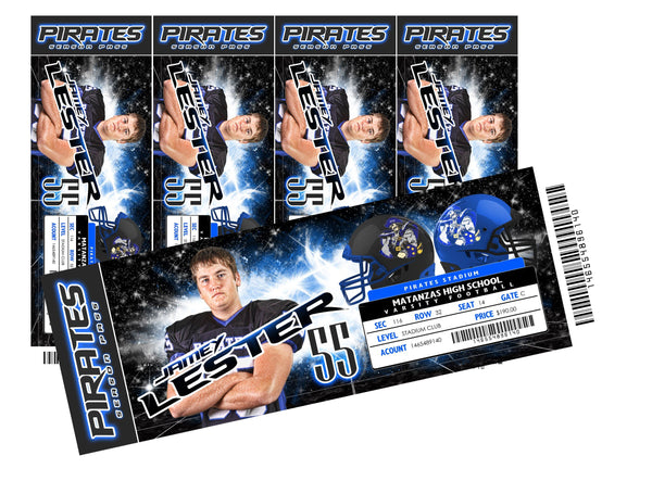 Star Dust - V.5 - Game Day Ticket - Panoramic-Photoshop Template - Photo Solutions
