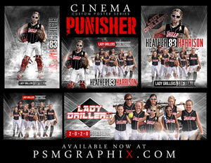 Punisher - Cinema Series - Full Collection-Photoshop Template - PSMGraphix
