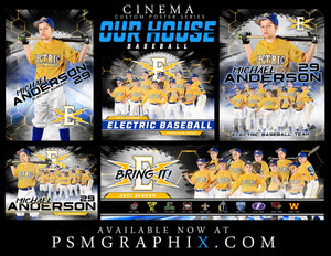Our House - Baseball - FULL Collection -  Cinema Series - Game Time Collection-Photoshop Template - PSMGraphix
