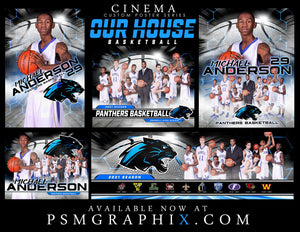Our House - Basketball - FULL Collection -  Cinema Series - Game Time Collection-Photoshop Template - PSMGraphix