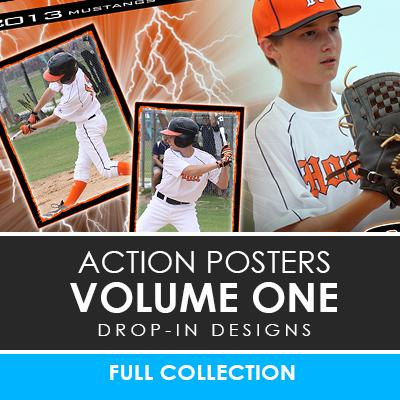 01 - Action Drop-In Poster/Banner Template Set - Volume 1 Photoshop Template -  PSMGraphix