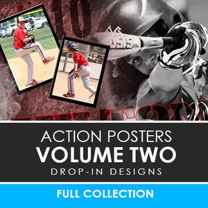 02 - Action Drop-In Poster/Banner Template Set - Volume 2 Photoshop Template -  PSMGraphix