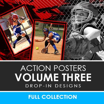 03 - Action Drop-In Poster/Banner Template Set - Volume 3 Photoshop Template -  PSMGraphix