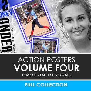04 - Action Drop-In Poster/Banner Template Set - Volume 4 Photoshop Template -  PSMGraphix