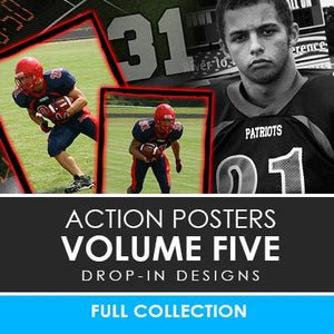 05 - Action Drop-In Poster/Banner Template Set - Volume 5 Photoshop Template -  PSMGraphix