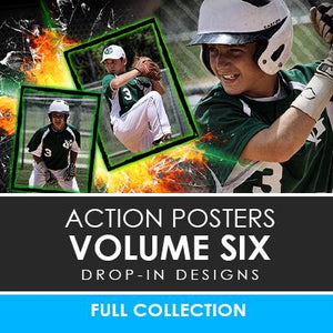 06 - Action Drop-In Poster/Banner Template Set - Volume 6 Photoshop Template -  PSMGraphix