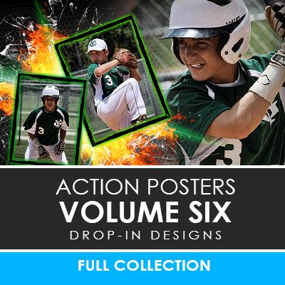 06 - Action Drop-In Poster/Banner Template Set - Volume 6 Downloadable Template Photo Solutions PSMGraphix
