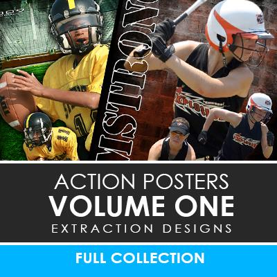 01 - Action Extraction Poster/Banner Template Set - Volume 1 Photoshop Template -  PSMGraphix