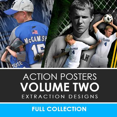 02 - Action Extraction Poster/Banner Template Set - Volume 2 Downloadable Template Photo Solutions PSMGraphix