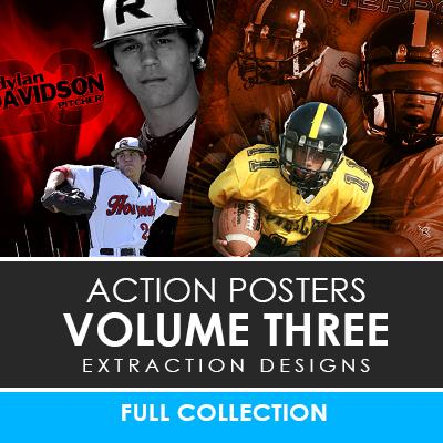 03 - Action Extraction Poster/Banner Template Set - Volume 3 Downloadable Template Photo Solutions PSMGraphix