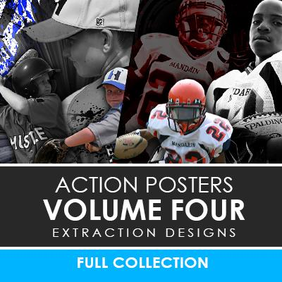 04 - Action Extraction Poster/Banner Template Set - Volume 4 Photoshop Template -  PSMGraphix