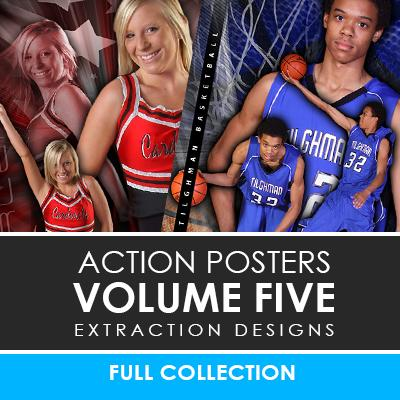 05 - Action Extraction Poster/Banner Template Set - Volume 5 Downloadable Template Photo Solutions PSMGraphix