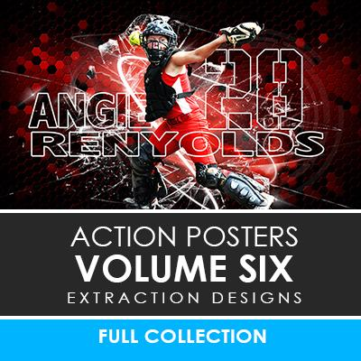 06 - Action Extraction Poster/Banner Template Set - Volume 6 Photoshop Template -  PSMGraphix