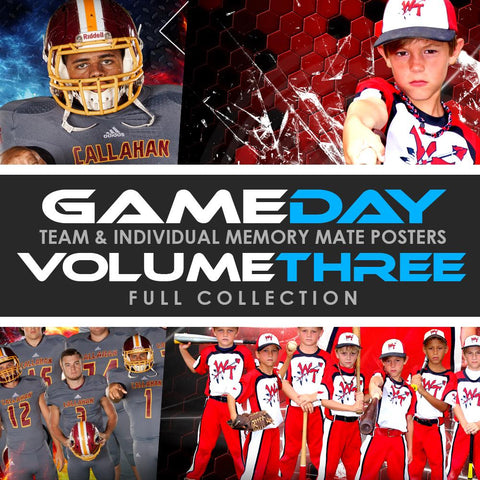 03 Game Day Memory Mates - V3 - FULL COLLECTION Downloadable Template Photo Solutions PSMGraphix
