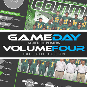04 - Game Day Season Schedule Collection - Volume 4 Photoshop Template -  PSMGraphix