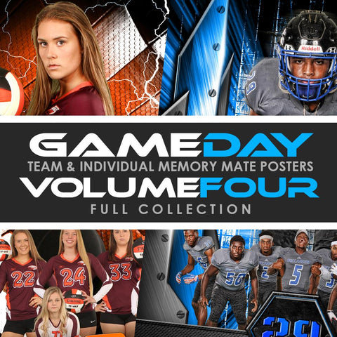 04 Game Day Memory Mates - V4 - FULL COLLECTION Photoshop Template -  PSMGraphix