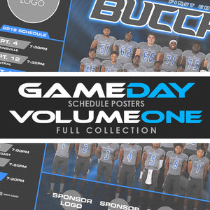 01 - Game Day Season Schedule Collection - Volume 1 Photoshop Template -  PSMGraphix